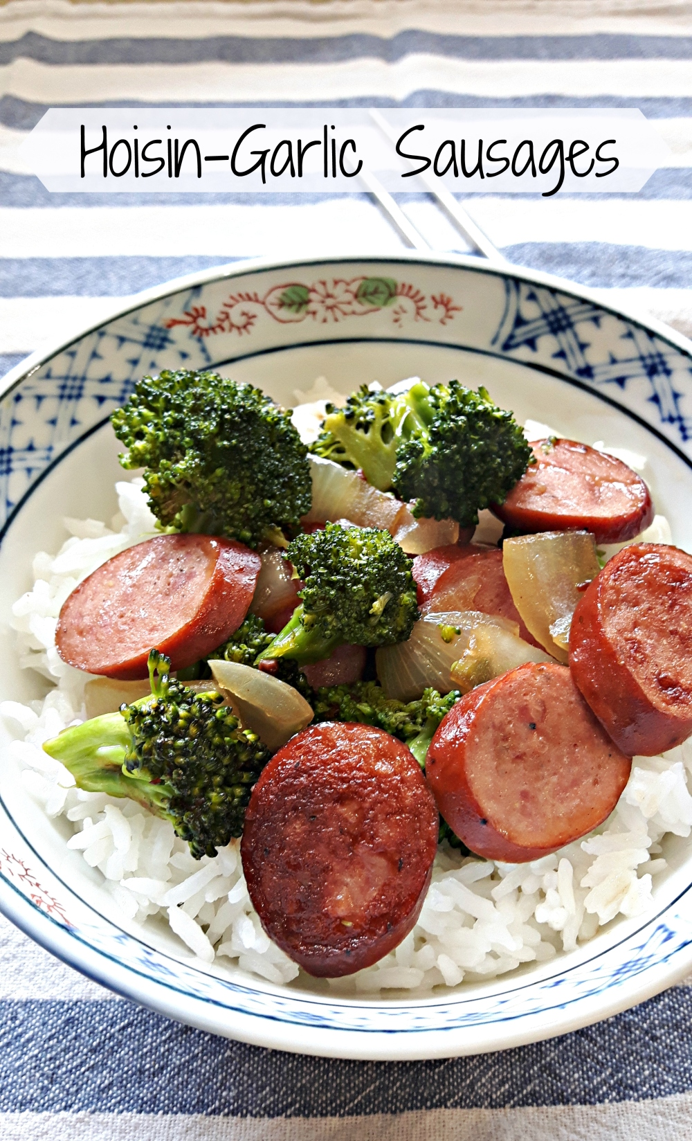 hoisin-garlic sausages1