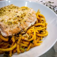 Garlic Salmon & Butternut Squash Noodles