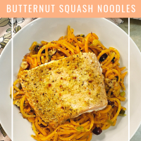 Garlic Salmon & Butternut Squash Noodles