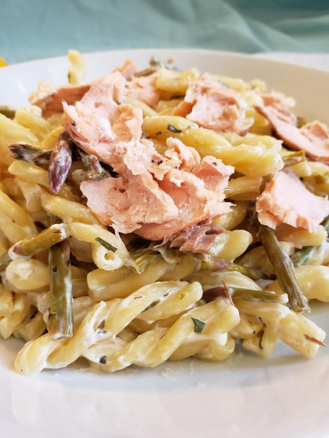 Fork & Fantasy- Spring Salmon Pasta 3