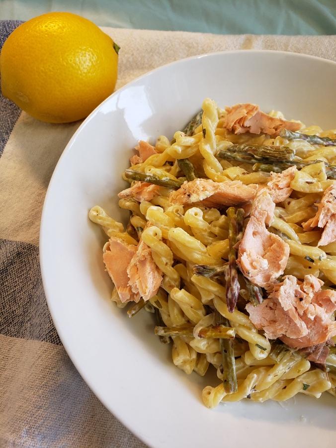 Fork & Fantasy- Spring Salmon Pasta 5