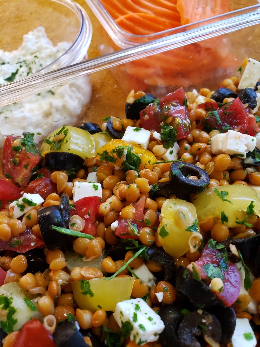 Fork & Fantasy - Greek Lentil Salad 1