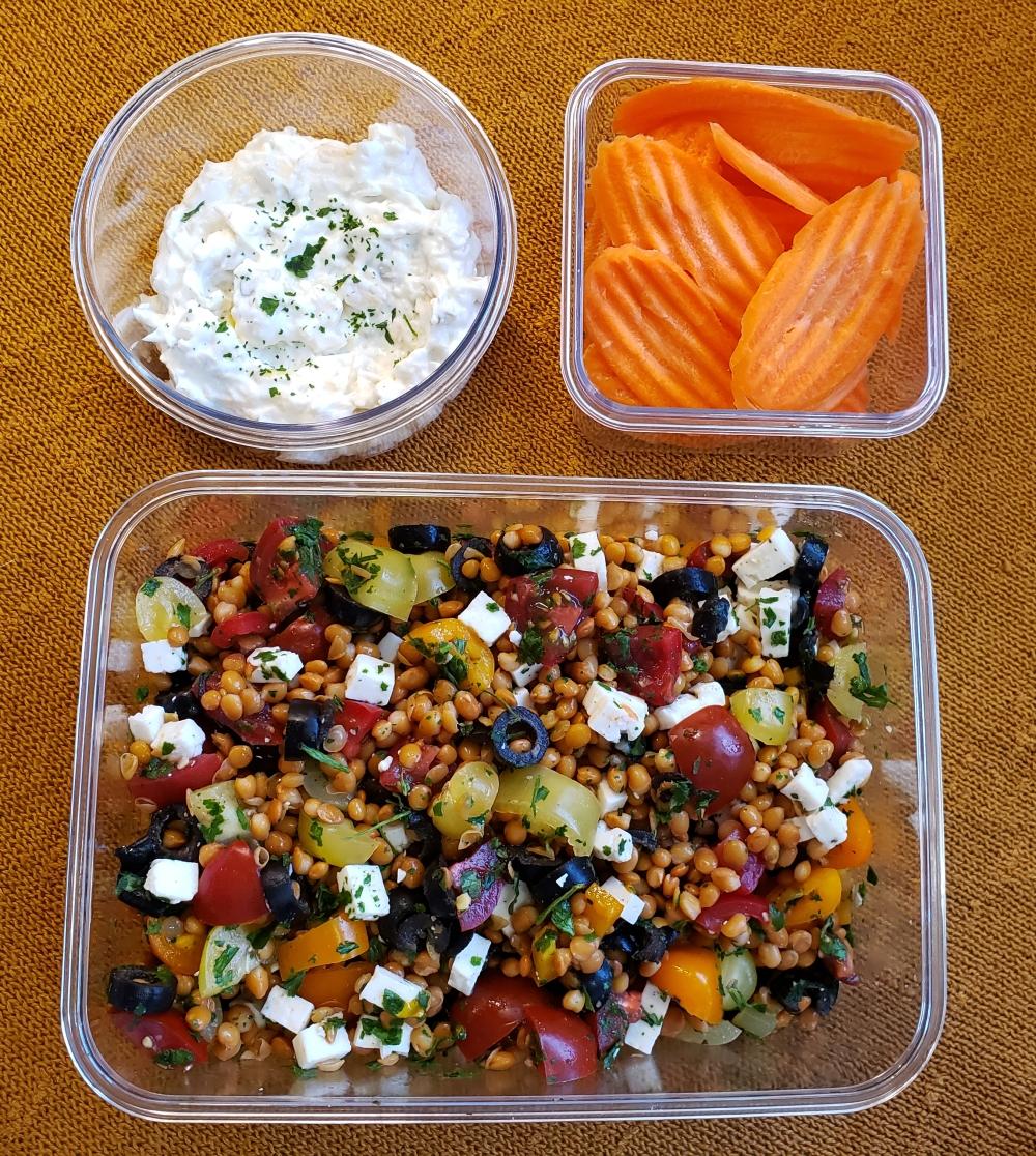 Fork & Fantasy - Greek Lentil Salad 3