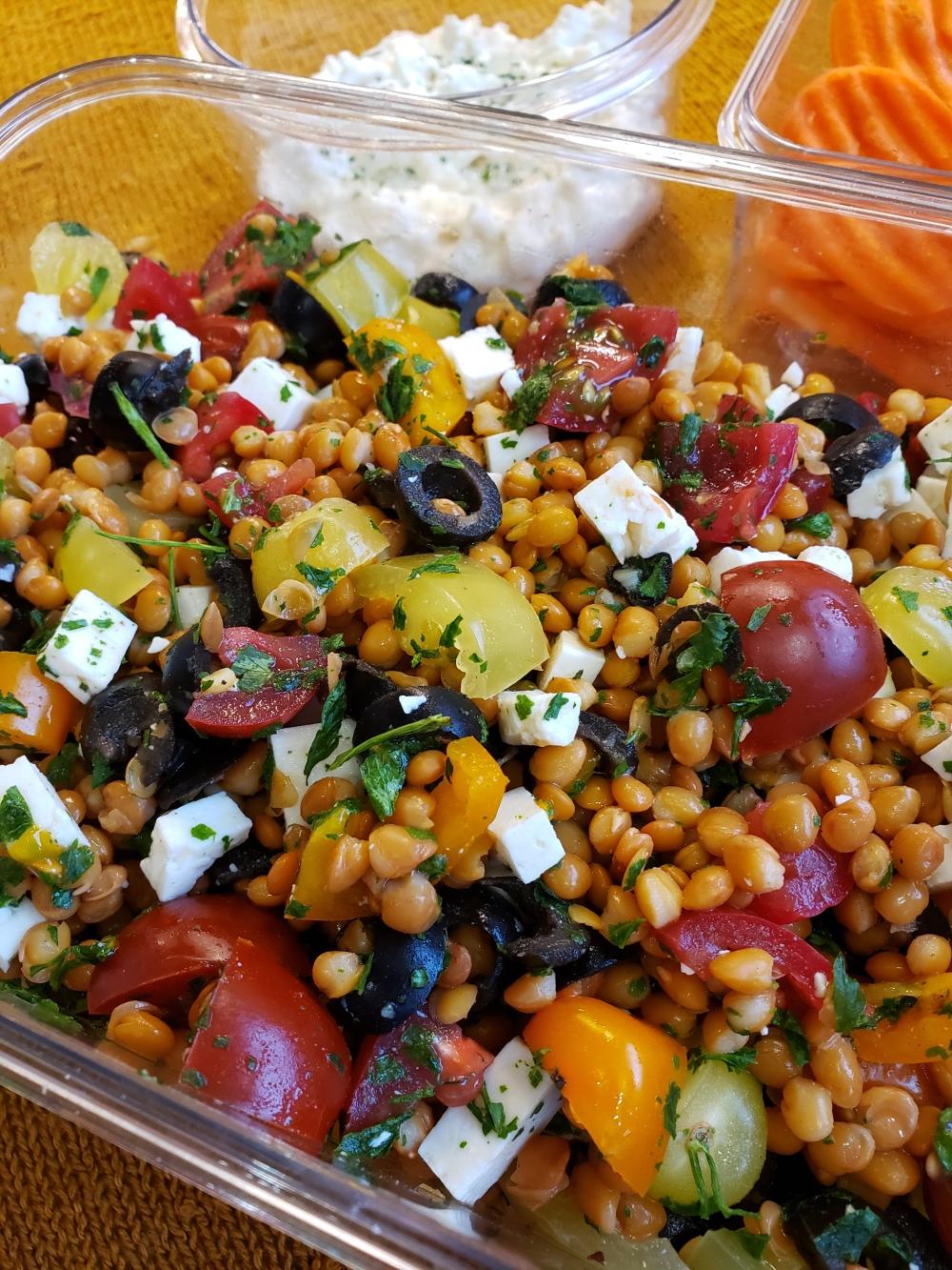 Fork & Fantasy - Greek Lentil Salad 4
