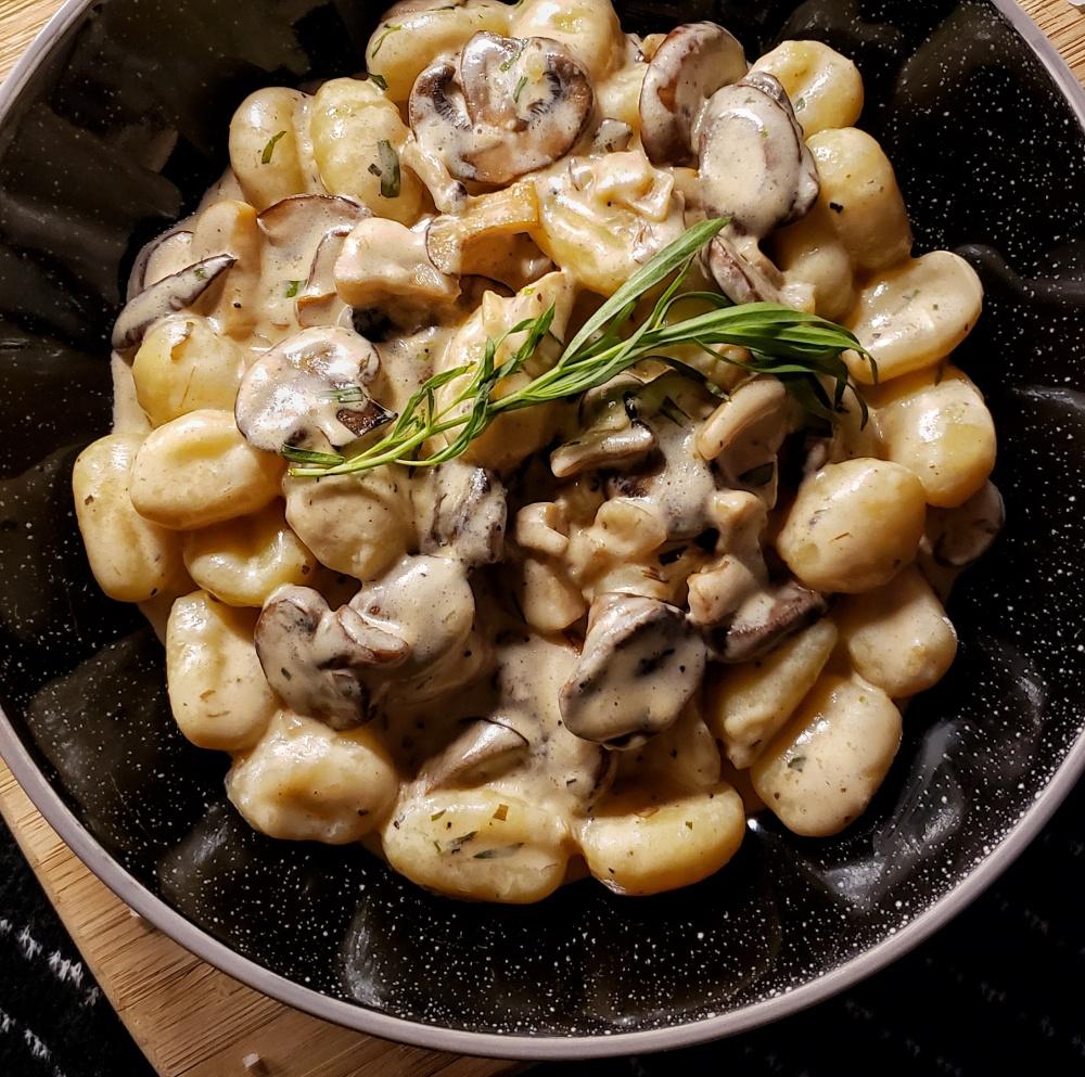 Creamy Mushroom Gnocchi 4
